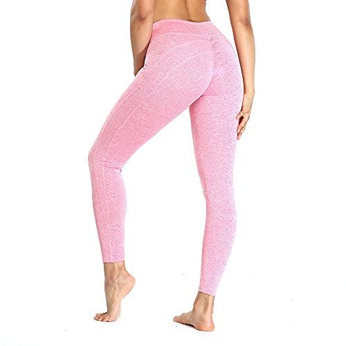 ArcherWlh Leggings Mujer,Leggings Apretados de Cintura Alta y Nalgas para Fitness Yoga pantalón-Polvo_S