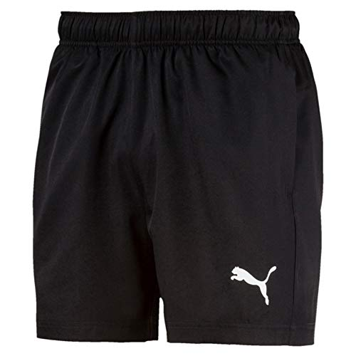 PUMA Active Woven Short 5` Pants, Hombre, Puma Black, L