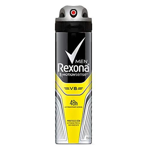 Desodorante Antitranspirante Aerosol Masculino Rexona V8 72 horas 150ml, Rexona, Branco
