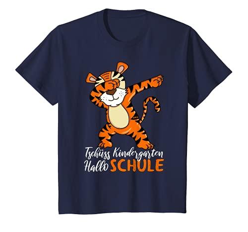 Kinder T-Shirt Einschulung Jungen Tiger Schulkind Outfit T-Shirt