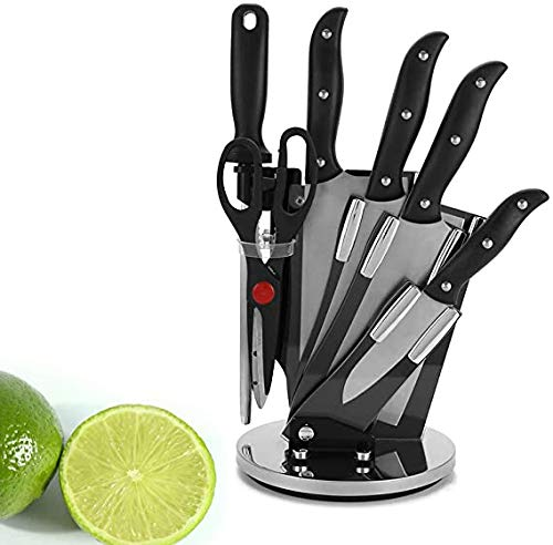Acryl Multifunctionele Rotary messenblok Creative Kitchen Knife Holder RVS Knife Set Mes van de Keuken Storage Rack