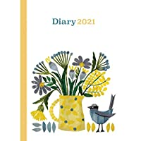 Fashion Diary Yellow Flowers and Jug A6 Diary 2021