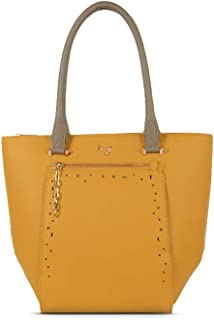 Baggit Women's Synthetic Tote Bag (Yellow) (Weby)
