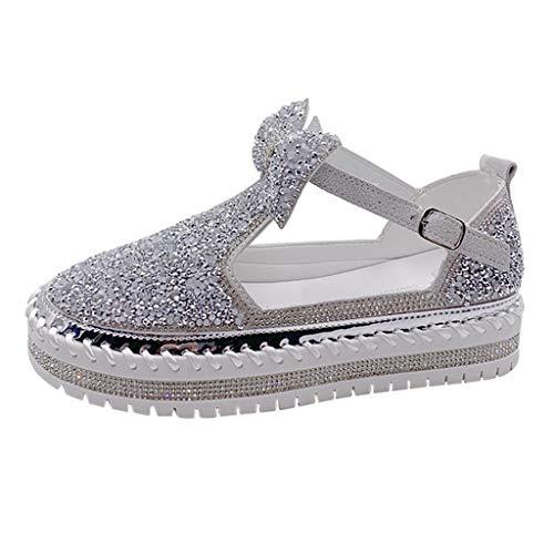 Inawayls Damen Mokassins Plateau Loafers Casual Sneaker Fahren Schuhe Slip on Slipper Keilabsatz Freizeitschuhe Halbschuhe