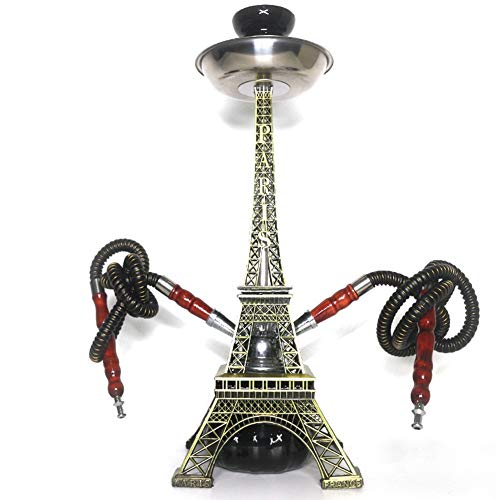 Rteanb Torre cachimba Doble Pipa de narguile Shisha Conjunto for una Mejor Shisha Cachimba Que Fuma Disfrute