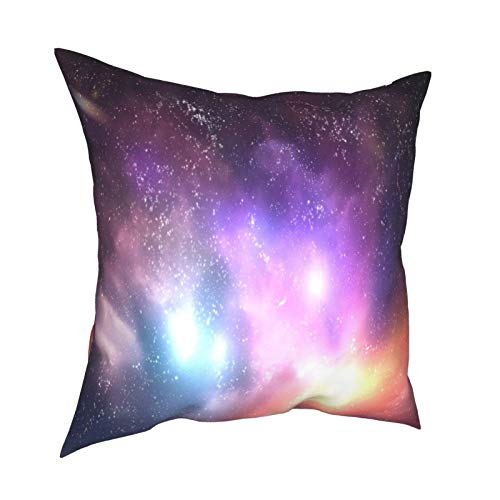 Throw Pillow Cover Case,Outer Space Stars Sky Dreamy Cosmos Universe Nebula Constellation,Modern Pillowcase for Sofa Couch Bed Car Set Home Decor 18'x 18' in Pillowcase Cushion Covers Zipper 2pcs