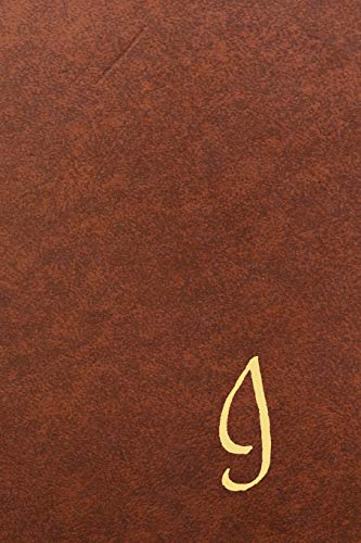 I: Executive Monogram Initial Journal (Vintage Leather Look Personalized Letter Notebooks)   Luxury, Exclusive Notebook   110 pages college ruled   6 x 9
