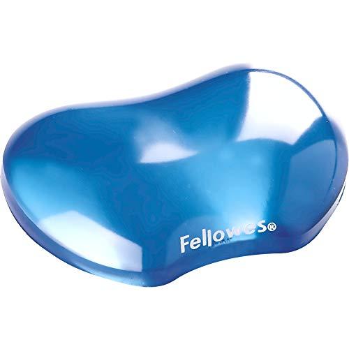Fellowes Handballenauflage Crystals, flexible Handgelenkauflage mit Gel, kompakt, abwaschbar, blau