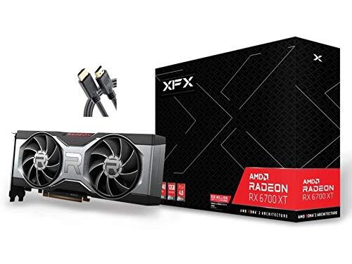 2021 XFX AMD Radeon RX 6700 XT ゲーミンググラフィックカード 12GB GDDR6 + AllyFlex HDMI