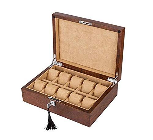 HJQL Uhrenbox, Hölzerne Uhrenbox Mit Handgelenkkissen Für Männer Oder Frauen, Armbanduhren Schmuck Armbandkollektionen Aufbewahrungshalter Zur Aufbewahrung