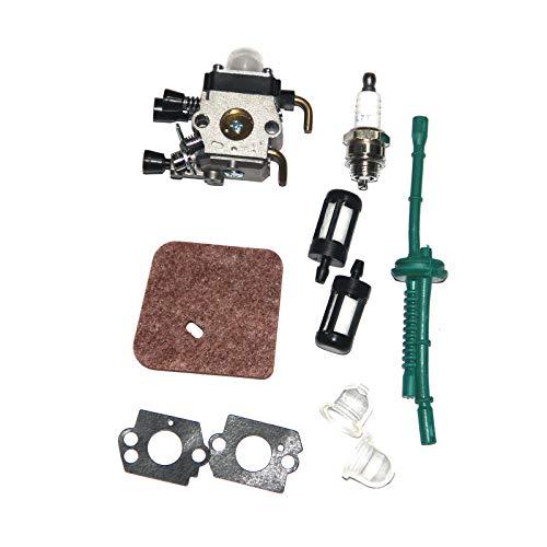 C1Q-S97 Vergaser mit Luftfilter Kraftstoffleitungsfilter für STIHL FS38 FS45 FS46 FS55 KM55 HL45 FS45L FS45C FS46C FS55C FS55R FS55RC FS85 FS80R FS85R FS85T FS85RX