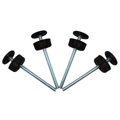 Baby Gate Guru Extra Long M8 (8mm) Spindle Rods for Pressure Mounted Gates Replacement Set - 4 Pack of M8 Spindle Screw Bolts for Baby and Pet Safety Gates - Choose Your Color (8mm, Black)