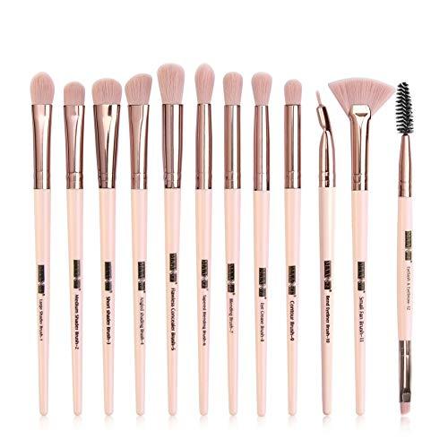 Onkessy 12 Pcs ye Brush Set Professional Eye Brush Eyeliner Fard À Paupières Eyeliner Mélange Brosses pour Essential Eye Makeup