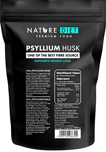Nature Diet - Cosses de Psyllium 1000 g | Source de fibre | Digestion | Détox