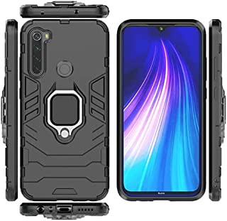Xiaomi Redmi Note 8 2021 Iron Man Armor Casing Luxury TPU Protective Hard Case cover With Finger Ring Holder Shockproof - ...