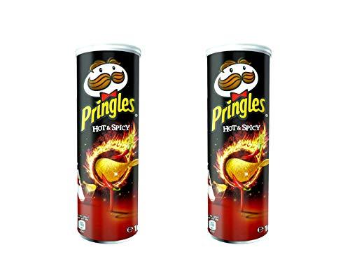 Pringles Patatas fritas picantes picantes, 165 g, paquete de 2