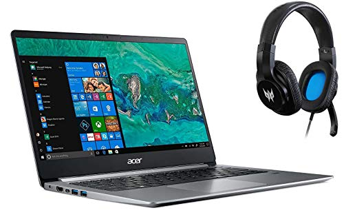Acer Swift 1 SF114-32 Ultra Slim Laptop Quad Core Intel N5000 up to 2.7GHz 4GB DDR4 64GB eMMC 14in FHD Fingerprint Reader W10 S Mode with Acer Predator Galea 310 Gaming Headset Bundle (Renewed)
