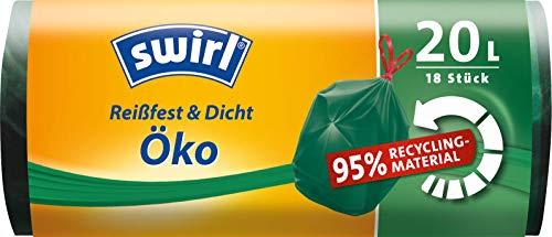 Swirl Öko Müllbeutel mit Zugband 20 L, 1er Pack (1 x 18 Stück)