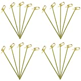 200Pcs Cocktail Sticks Japaneses Style Bamboo Toothpicks Cocktail Knotted Skewers Food Picks Fruit Toothpicks for Cocktail Party