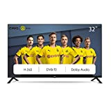 CHiQ L32G4500 80cm Fernseher 32 Zoll TV HD LED Fernseher, Triple Tuner, HDMI, USB, CI+, H.265, Dolby Plus, Hotelmode, Schwarz