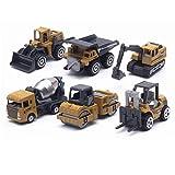 Tylyund Vehículos de construcción 6 Unids / Set 1:64 Modelo De Carretilla Elevadora Coches Conjunto De Juguetes Colecciones Regalo para Niños