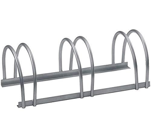 GAH-Alberts 698287 Mehrfach-Fahrradständer - freistehend, feuerverzinkt, 3 Einstellplätze, 700 x 300 mm