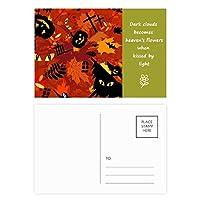 漫画の深い森のハロウィン 詩のポストカードセットサンクスカード郵送側20個