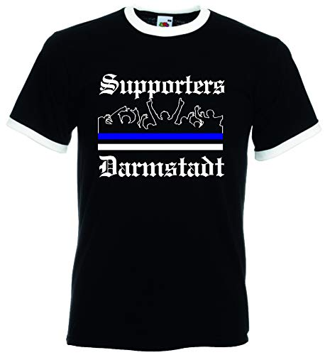 World-of-Shirt Herren Retro T-Shirt Darmstadt Supporter Utras