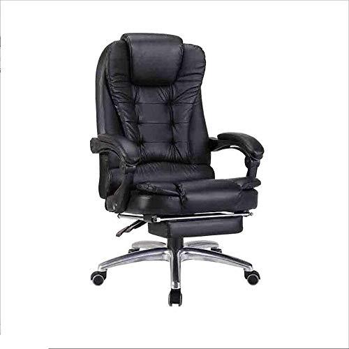 HUOQILIN Boss stoel bureaustoel rugleuning computer stoel ligstoel leer comfortabel business lift bureau kamer draaistoel