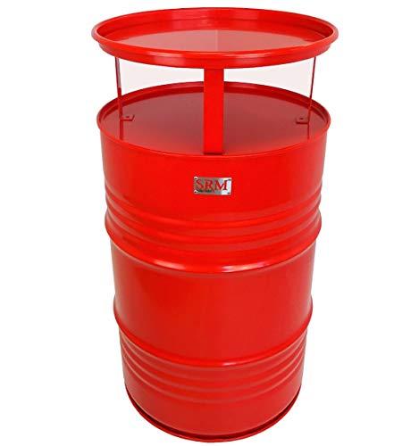 Fassmöbel Stehtisch Bistrotisch Tisch Design Partytisch Rot Ø 57cm Höhe 108cm / Glatter Glanz - Pflegeleichte Oberfläche