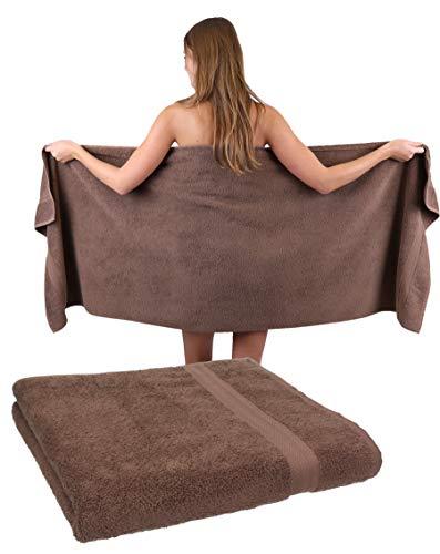 Betz Lot de 2 Serviettes à Sauna Premium 100% Coton Taille 70 x 200 cm Color Brun