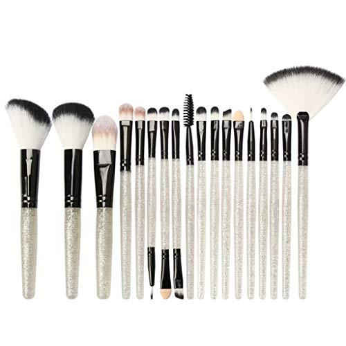 WINJIN 18 pcs Pinceaux de Maquillage Set Outils Maquillage cosmétique brosse fard à paupières Fondation Fard à Paupières Eyeliner pinceau de définition, pinceau correcteur - Synthétiques Vegan