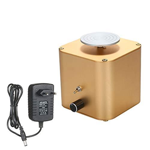TöPferscheibe Elektrotöpfe-keramische Maschine mit elektrischer Keramikmaschine mit 6 cm-Teller-Tonton-Sculptionsrad mit variabler Geschwindigkeit und gegen den Uhrzeigersinn-Rotation TöPferscheibe El