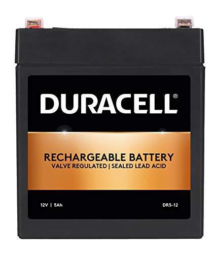 Duracell Original DR5-12 Valve Regulated Lead Battery - 12V | 5Ah - Replaces NP5-12 | NP5-12T |...