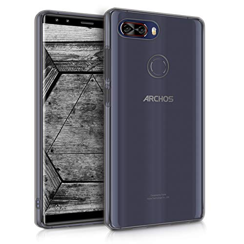 kwmobile Hülle kompatibel mit Archos Archos Diamond Omega - Silikon Handyhülle transparent - Handy Hülle in Schwarz