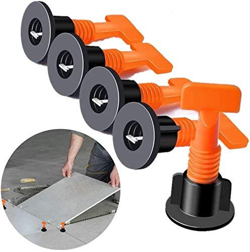 Fliesen-Nivellierer, wiederverwendbar, 100 Stück Fliesen-Nivelliersystem-Kits, Fliesen-Abstandhalter für Keramik, DIY-Werkzeug mit 2 Schraubenschlüssel