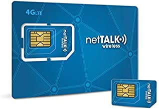 netTALK Wireless SIM Card Starter Kit for Business - Unlimited 4G LTE Data, Talk & Text with netTALK Wireless Business Plan| Nationwide Network by T-Mobile | Standard, Micro, Nano SIM Card