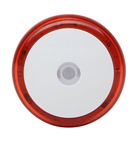 Kopp 195912076 Nachtlicht mit 3 LED's leuchtend und Dämmerungssensor, Rot, Weiß