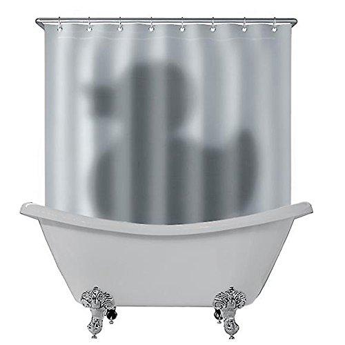 Perfectii Duschvorhang, 3D Ente Schatten Wasserdichter Anti Schimmel Duschvorhang, 180 x 180cm mit 12 Ringe, Bad Vorhang für Badezimmer Badewanne