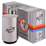 Magnetic Bottle Opener, 3 Pack - Automatic Push Down Beer Openers with Insulated Sleeve - Stainless Steel Magnetic Pop off Easy to use