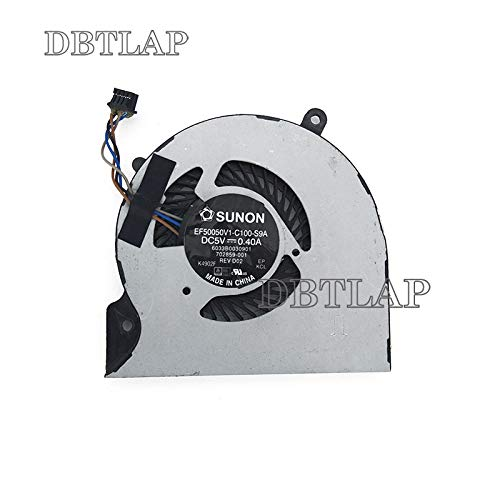 DBTLAP Neu Laptop CPU Kühlung Lüfter für HP EliteBook Folio 9470 9470M EF50050V1-C100-S9A 702859-001 6033B0030901 Series Lüfter