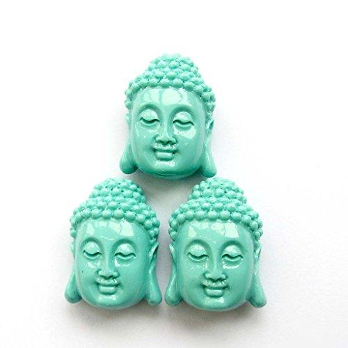 3pcs Buddhist Kwan-yin Buddha Pendant Beads Findings