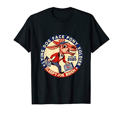 Lying Dog Face Pony Soldier Quid Pro Quo Joe Biden Donkey T-Shirt