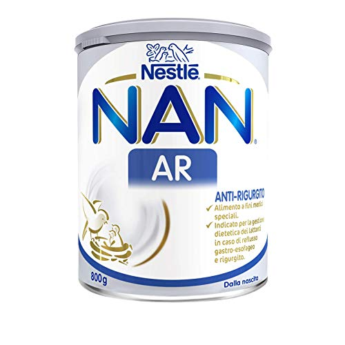 Nestlé NAN AR Anti-Rigurgito Polvere Alimento a Fini Medici Speciali per la Gestione Dietetica dei Lattanti in Caso di Reflusso Gastro-Esofageo e Rigurgito, Latta 800 g