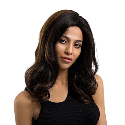 ALIKEEY 45cm❤️Perruques De Cheveux Noirs De Boucles Naturelles De Mode De Femme Women Fashion Ladies Black Natural Curls Hair Wigs Full Wig