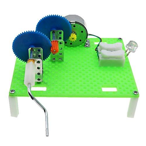 Hztyyier Generador de energía con manivela Generadores de Juguete Kit de Ciencia Bombilla Kits de experimentos de Ciencia para niños de 8 años en adelante