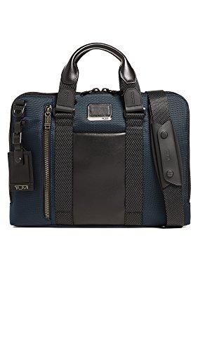 TUMI - Alpha Bravo Aviano Laptop Slim Brief Briefcase - 15 Inch Computer Bag for Men and Women - Navy
