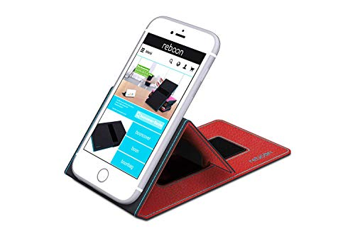 reboon Hülle für Huawei Ascend D1 Tasche Cover Case Bumper | Rot Leder | Testsieger - 3