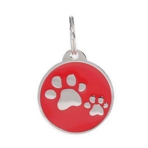 PetTouchID Smart Pet ID Tag, QR Code, NFC Scan, Online Pet Page, GPS Location (RED Paws)