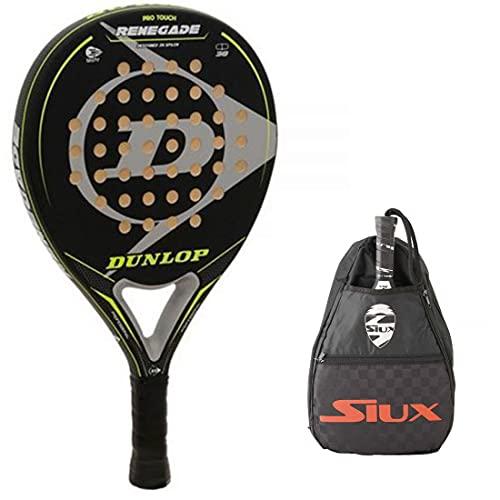 Pala de Padel Dunlop Renegade + Bandolera Siux / Mejores Palas y Raquetas de Pádel para Hombre Mujer y Niño / Palas Raquetas de Alto Control y Marco de Carbono
